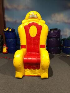 Large Inflatable Chair - 4x4x7.6