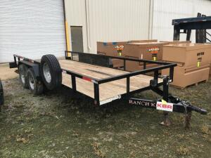 "2019 ""RANCH KING"" 7' X 20' UTILITY TRAILER WITH RAMPS"