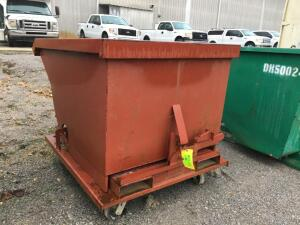 1 YARD, SELF DUMPING DUMPSTER ON ROLLERS