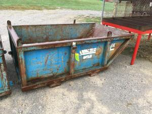HEAVY DUTY CONSTRUCTION SKIP PANS WITH LIFTING LUGS AND FORKLIFT POCKETS FOR LIFTING