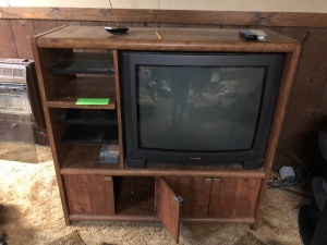 Entertainment Console with TV