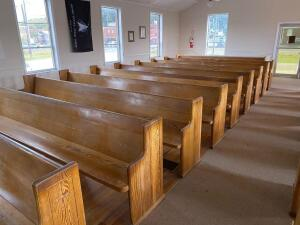 (4) Wood Pews - 13ft Long - to be removed by purchaser