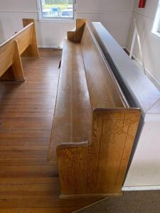 (4) Wood Pews - to be removed by purchaser