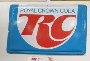RC Cola Vintage Metal Sign 6' x 4' +/-