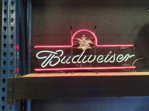 "Budweiser Neon Lighted Sign 30"" x 14"""