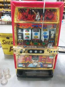 "Aristocrat B Type Slot Machine - Condition Unknown 19"" wide x 32' tall - approximate dimensions"