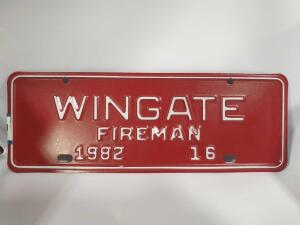 12' Wide Wingate fireman tag