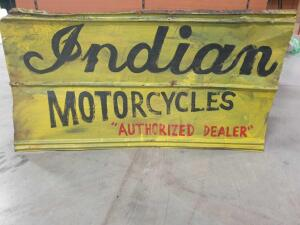 "Replica Indian Sign (tin) 48"" x 27"" +/-"