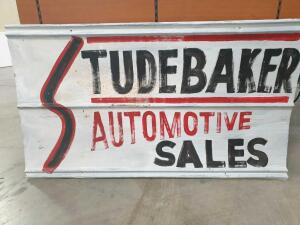 "Replica Studebaker Sign (tin) 46"" x 25"" +/-"