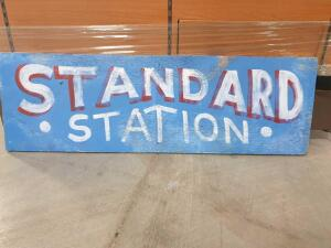 "Replica Standard Station Wooden Sign 36"" x 12"" +/-"
