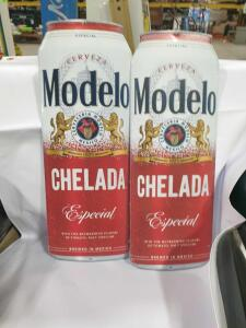 "Set of (2) Modelo Signs 7"" x 18-1/2"" +/-"