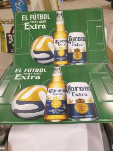 "Set of (2) Corona Extra Signs 24"" x 16"" +/-"