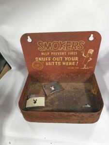 Metal Ashtray with Playboy lighters (2)