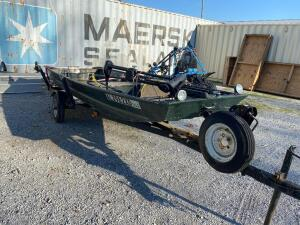 14ft John Boat with Trailer and Minnesota 40AT Trolling Motor