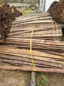 (1) Bundle of approximately 500 boards of rough cut 1 x 4 Southern Yellow Pine