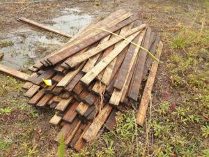 (1) Lot of approximately 50 boards of rough cut 1 x 4 Southern Yellow Pine