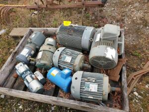 (8) Various motors - condition unknown