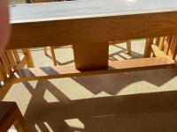 Wooden Table with 4 Chairs - 7