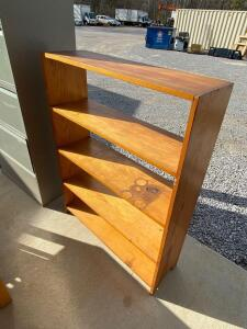 Wooden Bookshelves with Open Back