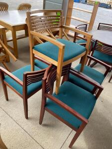 Lot- 5 Wooden Chairs