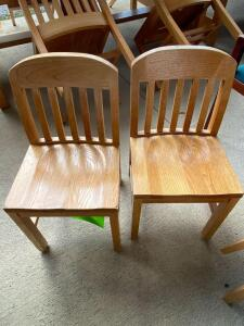 Lot- 2 Wooden Children's Chairs