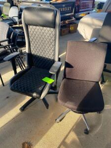 Lot- 2 Black Rolling Office Chairs