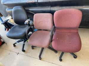 Lot- 3 Rolling Office Chairs
