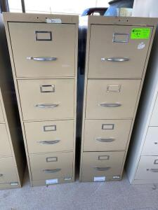 Lot- 2 Filing Cabinets, 4 Drawers each