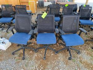 Lot- 6 Adjustable Height Rolling Chairs