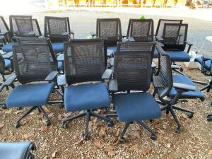 Lot- 7 Adjustable Height Rolling Chairs