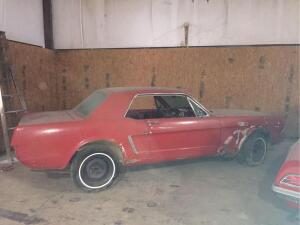 Project Vehicle 1964-1/2 Ford Mustang - no interior, incomplete motor