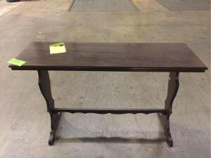 "Wooden Table 45"" w x 28"" h x 15"" l"