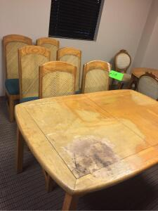Dining Table with 6 Chairs - Some damage on Table