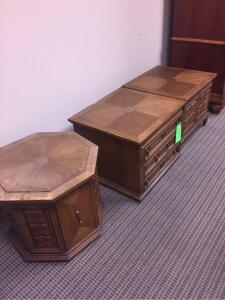 (3) Decorative wooden cabinets/table