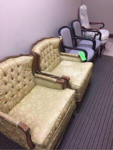 (5) Various style upholstered chairs