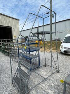 Cotterman Rolling Warehouse Ladder - Platform 6ft. High