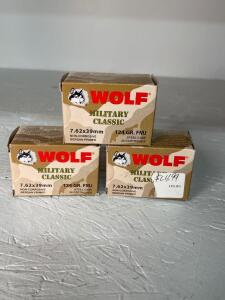 Wolf Military Classic 7.62x39mm Ammo - 60 rds