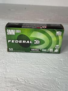 Federal 9mm Luger Ammo - 50 rds