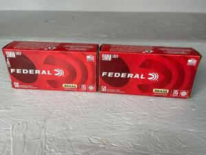 Federal 9mm Luger Ammo - 100 rds