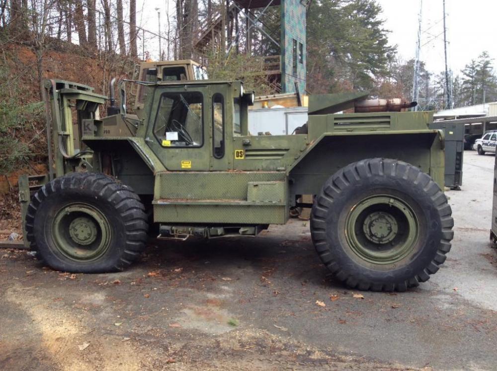 1988 LiftKing Diesel 12K Lb Forklift- 4WD - Articulating