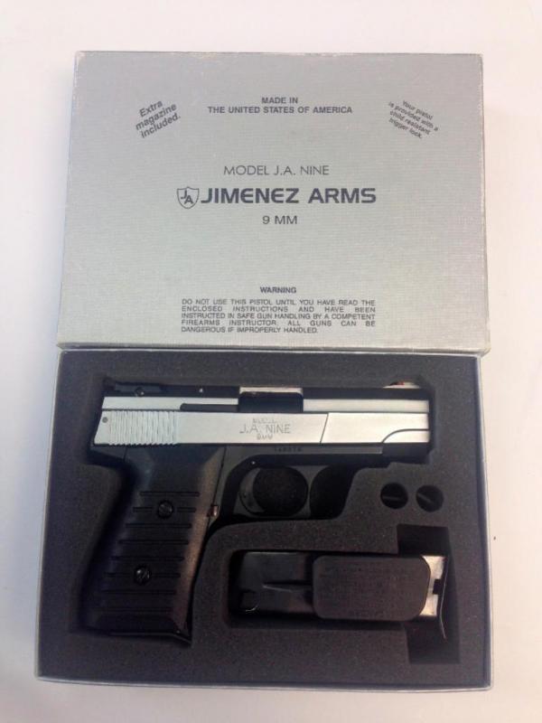 Jimenez Arms Model J A  Nine 9mm Pistol