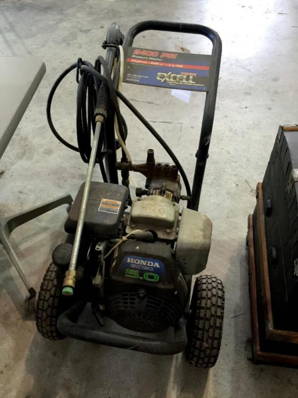 Lot 113 Of 458 Excell 2400 Psi Pressure Washer Honda 5 0 Unknown Condition