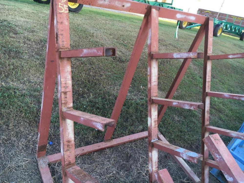 HEAVY DUTY BUILT STEEL PIPE RACK