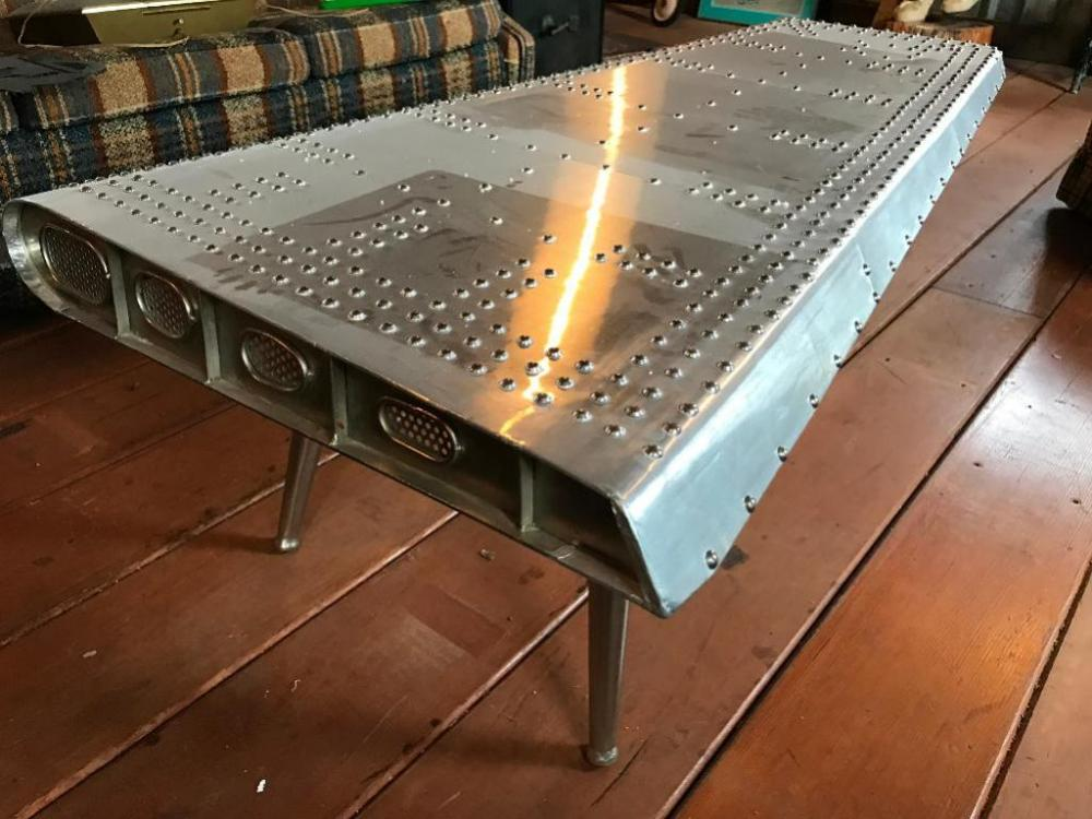 Pleasant Aluminum Hand Mande Airplane Wing Coffee Table Very Home Interior And Landscaping Oversignezvosmurscom