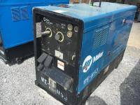 "2008 ""MILLER"" BIG BLUE DIESEL 400D WELDER/GENERATOR ON SKIDS,8499 HOURS,SERIAL # LJ370197E,RUNS AND WELDS"