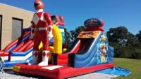 Inflatable Power Ranger Obstacle Course