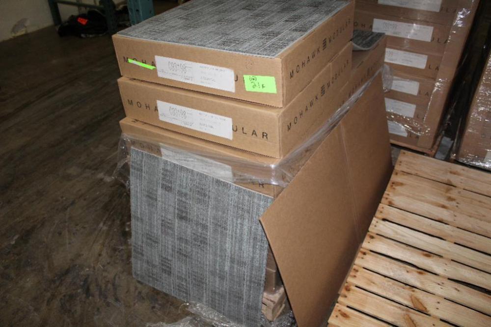 16) Boxes of Mohawk Commercial Carpet Tile. (896 Sq Ft). \