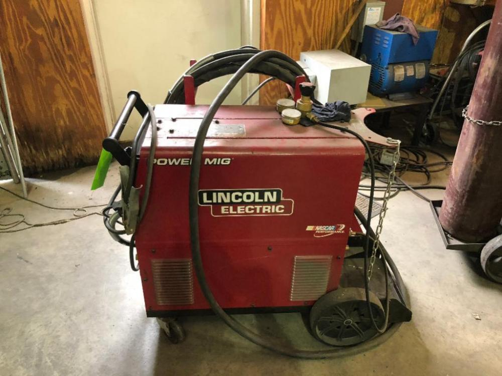 Lot 17lincoln Electric Power Mig 350mp Welder