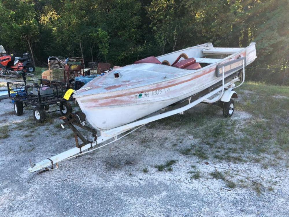 15ft Vintage Crestliner Boat With Trailer No Motor
