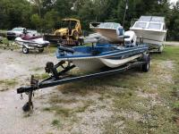 15ft Vintage Crestliner Boat with Trailer - no motor